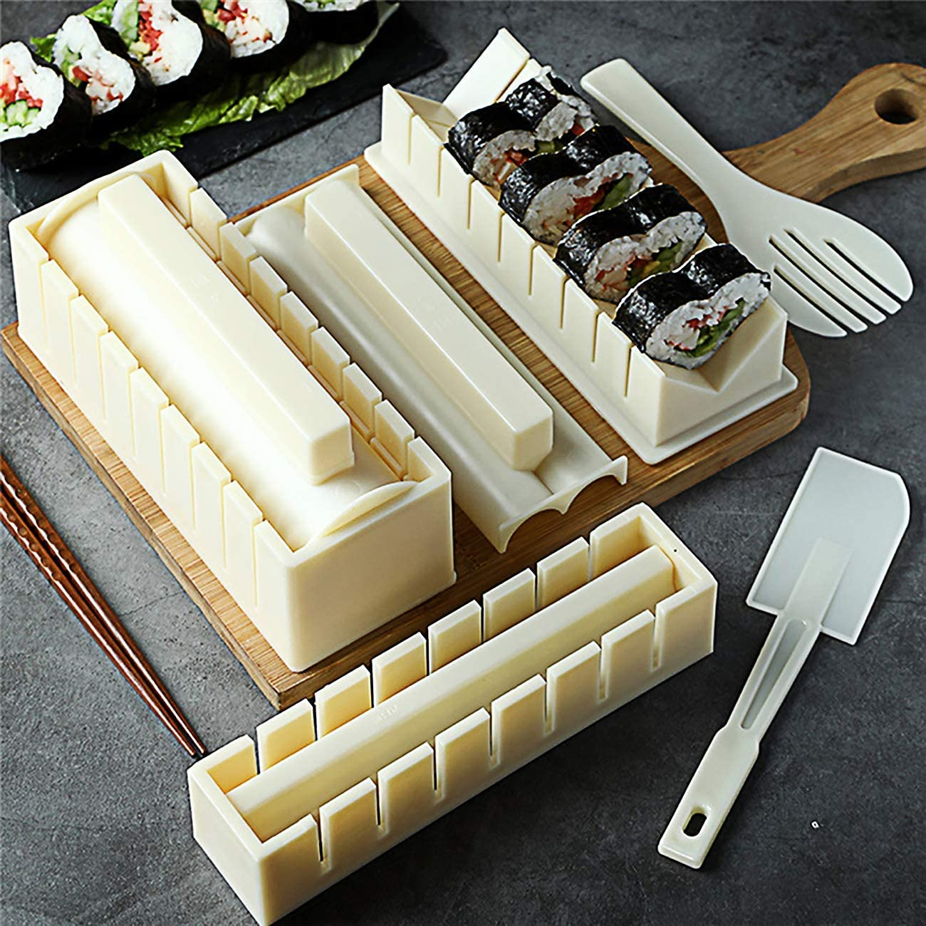 Sushi Omaha Mall Making Kit Tool with Set Free shipping anywhere in the nation Complete Pieces P 10