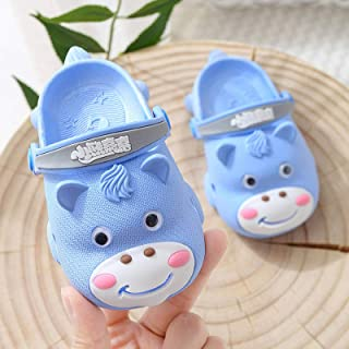 Baby Sandals for Boys Girls Toddler Shoes Summer Soft-Sole Anti-Slip 0-1-3-Year 2 Small Kids Closed-Toe Porous Home Shoes