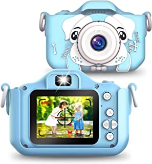 Kids Camera, 1080P HD Digital Child Camera with 2.0 Inch IPS Screen,20MP and 32G SD Card Included, Ideal Birthday Gift for...