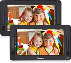 "NAVISKAUTO 10.5"" Dual Screen DVD Player Portable for Car with 5-Hour Built-in.."