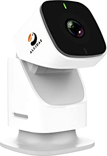 Alcidae Tracer, 1080P 360° Endless Rotation Motion Tracking Cloud Cam, Night Vision, 2 Way Audio, Smart Motion/Sound Alerts, Full Room Scan