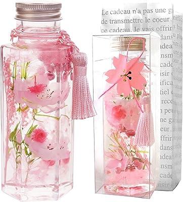 花まりか 桜 ハーバリウム S 誕生日 お祝い ギフト 贈り物 ギフト 六角中型