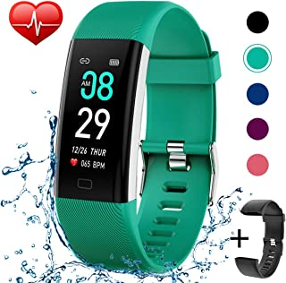 KITPIPI Fitness Tracker Activity Tracker Watch with Heart Rate Monitor, Pedometer Waterproof Smart Watch Sleep Monitor, Step Counter, Calorie Counter, for Kids Women and Men