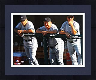 Framed Joe Torre Don Zimmer and Mel Stottlemyre Triple Signed Dugout 16x20 Photo (MLB Auth) - Steiner Sports Certified