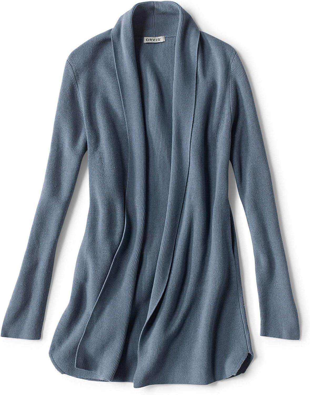 Orvis Women's Merino COOLMAX Selling Long Sale special price Cardigan Open