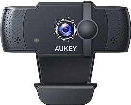 AUKEY Webcam 5 PM 1080p Autofocus con Microfonos de Reducción de Ruido, Full HD USB Webcam para Videoclamada y Grabación d...