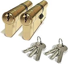 Anti Drill 3X Keys Anti Bump Anti Pick Patio Doors etc Nickel Finish High Security Euro Door Lock Cylinder Anti Snap for PVC//uPVC Doors Size : 45//55