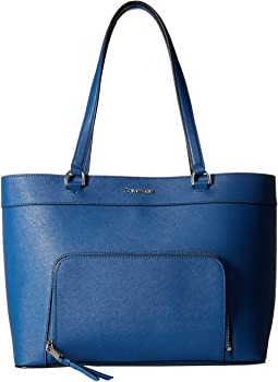 0691a8ec6a7 Calvin klein jacky micro pebble leather tote | Shipped Free at Zappos