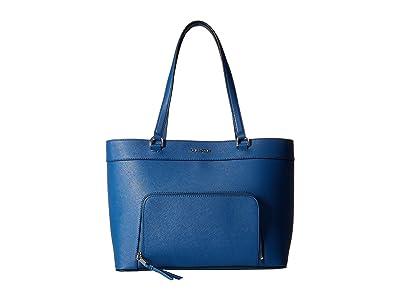 Calvin Klein Louise Saffiano Leather Tote (Seaport) Handbags