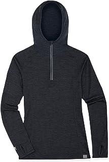 MERIWOOL Women's Base Layer Hoodie Lightweight Merino Wool Long Sleeve Thermal