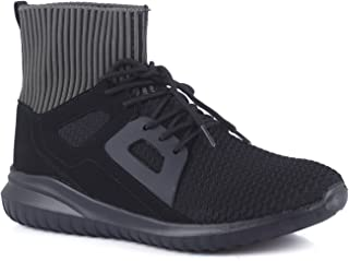 Mufti Black Ankle length Sneakers