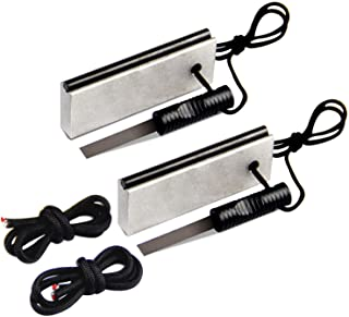 AOFAR Magnesium Fire Starter (2-Pack) Waterproof Fire Steel Pouch for Camping, Hiking, Hunting, Backpacking,Outdoor Surviv...