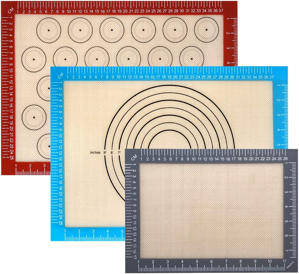 Silicone Baking Mat Super sale period limited with Measurements Max 61% OFF - 100% 3 of Set Stick Non