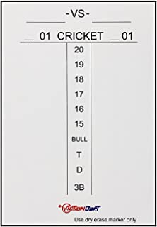 Piero Lorenzo Magnetic Dry Erase Scoreboard - Cricket and 01 Dart Games - 17