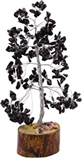 Harmonize Curación con Cristales de turmalina Negro Árbol de Piedra Gemas Reiki Espiritual Feng Shui Vector de la decoración