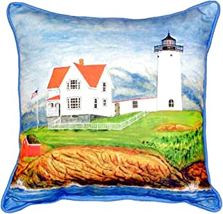 "Betsy Drake SN725 Nubble Lighthouse Pillow, 11"" x14"""
