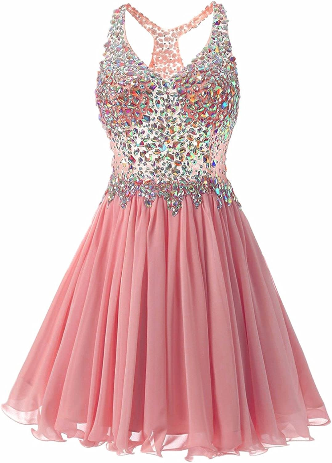 Aishanglina Women's DoubleV Prom Dresses Bridesmaid Guest Gowns for Prom Wedding Party