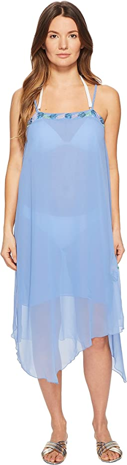 Letarte Embroidered Tank Dress Cover-Up