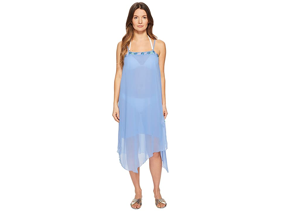 Letarte Embroidered Tank Dress Cover-Up (Azure) Women