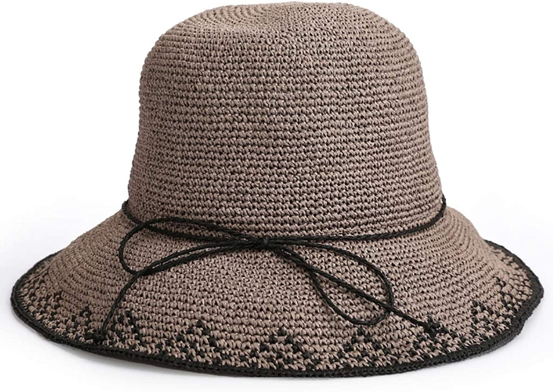 Xiao Jian Women's WideBrimmed hat Sun Visor Manual Crochet Cap Breathable Sweat Travel Leisure Cap (8 colors Optional) Summer hat