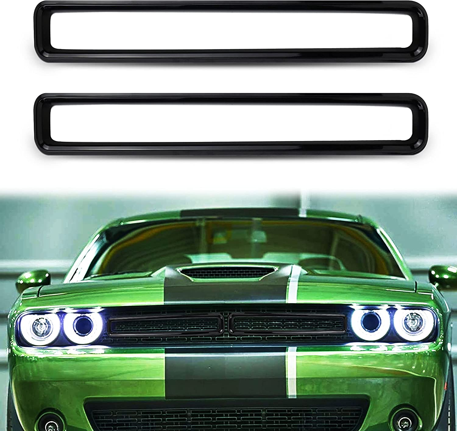 Hosile Black Albuquerque Mall Front Grill Max 73% OFF Mesh Inserts ABS Resin Grille Plastic