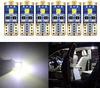 HOLDCY Super Bright LED Light Blubs - T10 194 W5W 168, 3-SMD Top 3030 LED Chipsets Bulbs Canbus Error Free - For Car Inter...