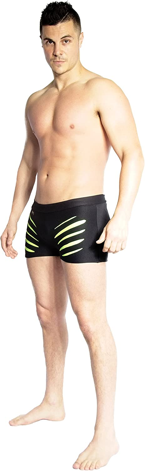 Wink Men's Slash Shorts (Large, Black Apple Green)