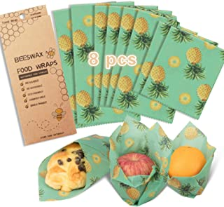 Beeswax Wrap Assorted 5 Packs, Eco Friendly Reusable Food Wraps, Biodegradable, Sustainable Plastic Free Food Storage