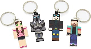 EnderToys Keychain Bundle Set, 4 Pieces, Herobrine Series
