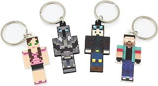 EnderToys Keychain Bundle Set, 4 Pieces, Herobrine Series