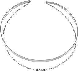 Dogeared - Plain Collar Choker w/ Draped Chain Necklace