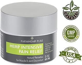 FARMHEMP PURE Intensive Healing Emu & Hemp Oil with 150mg Chronic Joint, Sciatic Nerve Pain & Muscle Cramps Relief Rub Cream - Effective Arthritis Joaint & Sciatica Nerve Pain Relief Rub - 2 oz