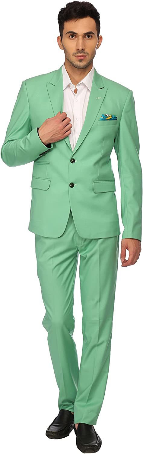 LUXURAZI The Pastel Green high Fashion Suit