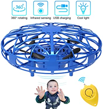 Mini Drones for Kids & Adults, RC UFO Helicopter with LED Lights, Hand Operated Easy Indoor Outdoor Small Orb Flying ...