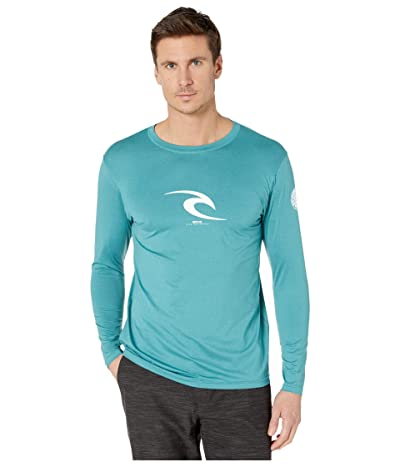 Rip Curl Icon Relaxed Long Sleeve Rashguard (Teal) Men