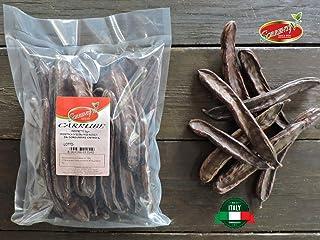Carrube secche ITALIANE disidratate da 1kg - pronte da mangiare e carnose - intere - naturali - SORRENTINO Fruttaseccaesalute