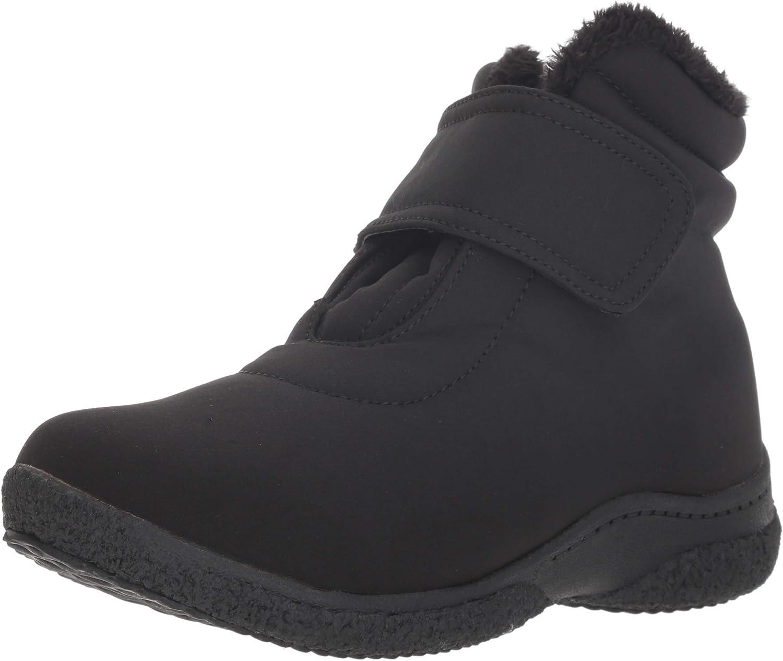 Propet Women's Madi Ankle Strap Snow Boot, Black, 8 4E US
