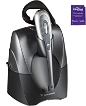 Plantronics CS55 Wireless Office Headset System Bundle with Headset Advisor Wipe (Renewed)