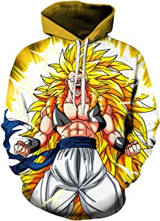 Lichee Boys/Mens 3D Dragon Ball Z Hoodies Printed Pullovers Sportswear Sweatshirts Cosplay Costume