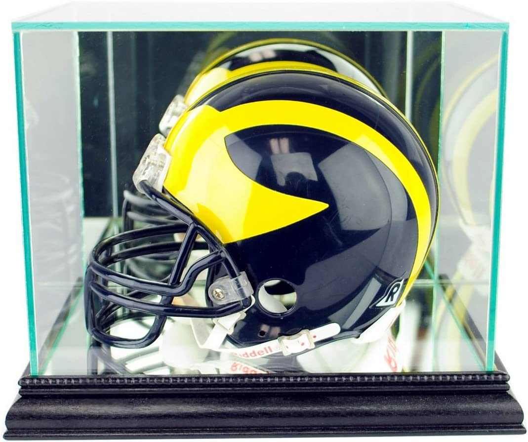 Perfect Cases Mini Helmet Display Case mouling Weekly update Wood It is very popular Real with an