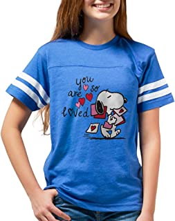 CafePress Snoopy - You Are So Loved Youth Football Shirt