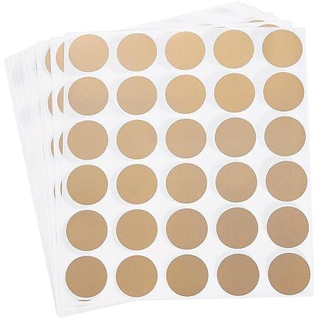 Bodas Shumo 300Pcs Round Gold Scratch Off Stickers las Etiquetas Adhesivas de 1 Pulgada Son /úTiles para Boletos Baby Shower Juegos Fiestas