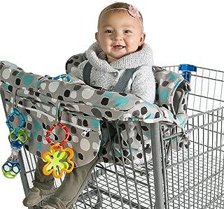 Kiddlets Grocery Shopping Cart Baby Seat Cover - Restaurant High Chair Insert Cushion Holder for Boys, Girls, Infants, Toddler