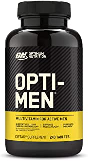 Optimum Nutrition Opti-Men, Vitamin C, Zinc and Vitamin D, E, B12 for Immune Support Mens Daily Multivitamin Supplement, 2...