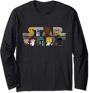Star Wars Logo Kawaii Multi-Character Long Sleeve T-Shirt