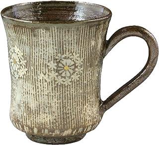 京焼 清水焼 マグカップ 黒 200ml 花月窯 櫛目印華(黒) CGK567-01