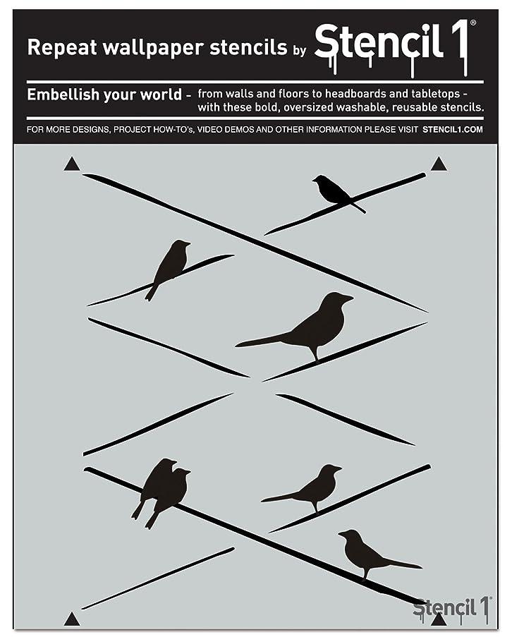 Stencil1 Birds On Wires Stencil, 11 x 11