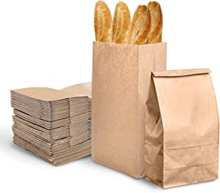 [50 Bags] Kraft Brown Large Paper Bags - Recyclable Lunch Bags- Cookies Bags, Grocery Bags, Wedding Gift Bags, Party bags,...