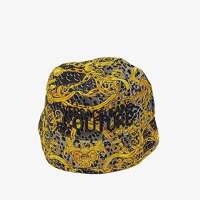 Versace Jeans Couture Leo Chain Print Bucket Hat (Black) Caps