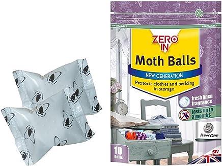 Zero In Moth Balls – Pack of 10 (Kills Moths, Larvae and Eggs, Odour-Free)